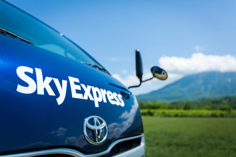 Sky Express Hi Ace Mt Yotei Summer Close Up Yasuyuki Shimanuki